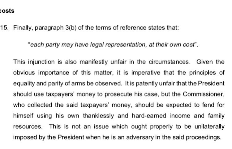 Screengrab from the letter by Tom Moyane to preisdent Cyril Ramaphosa.