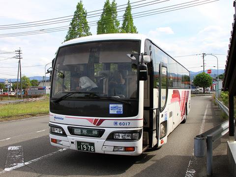 西日本鉄道「フェニックス号」 6017 人吉インター到着