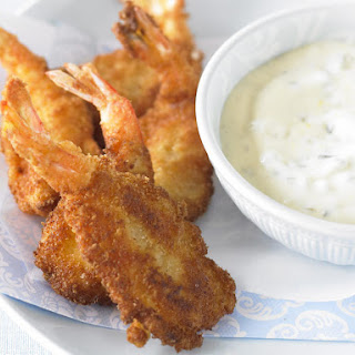 Fried Prawns with Tartar Sauce