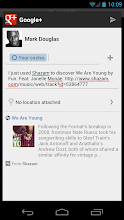 Photo: Shazam prepopulates text, along with a link to the song, in the Google+ share intent.