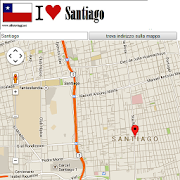 Santiago del Chile map