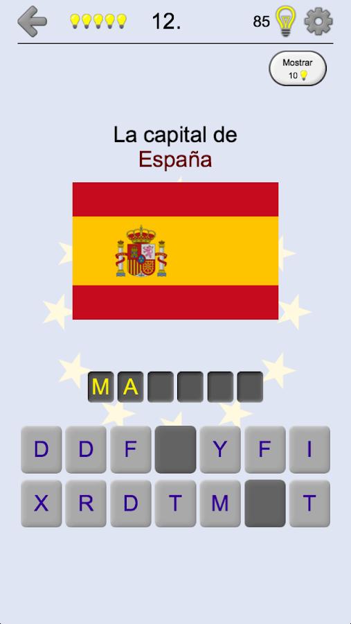 Pases de Europa Los mapas banderas y capitales  Aplicaciones