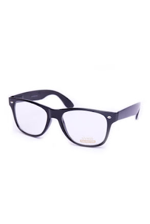 Blues Brothersglasögon Svart Klarglas