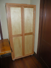 Photo: New library cabinet built by Terry and Bill