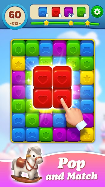 Toy Brick Crush - Addictive Puzzle Matching Game Android App Screenshot