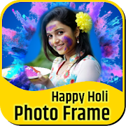Happy Holi Photo Frame Wishes 2019