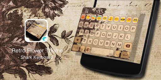 Emoji Keyboard-Retro Flower