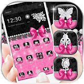 Pink Rose Black Lace Theme