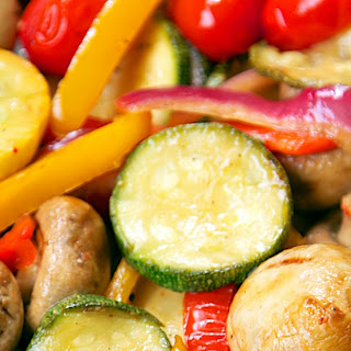 Marinated Grilled Vegetables.