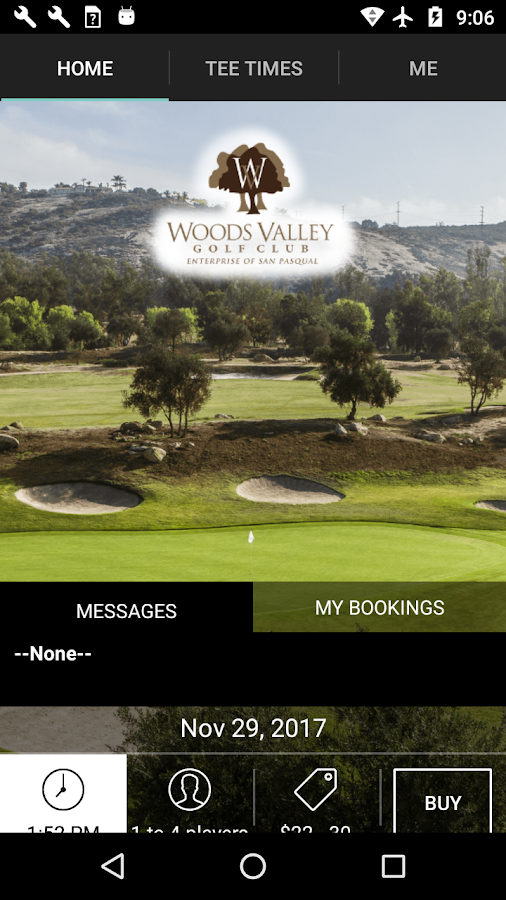 Woods Valley Golf Tee Times- screenshot