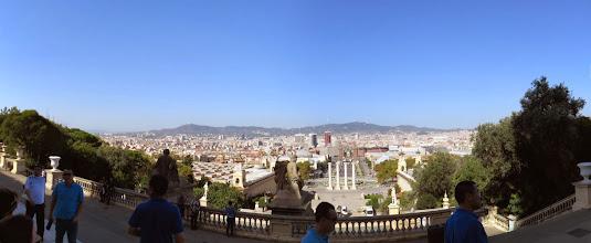 Photo: Pano de la ciudad desde ahí arriba. Se observa la humedad ambiente por causa de la cual no se observa demasiado.