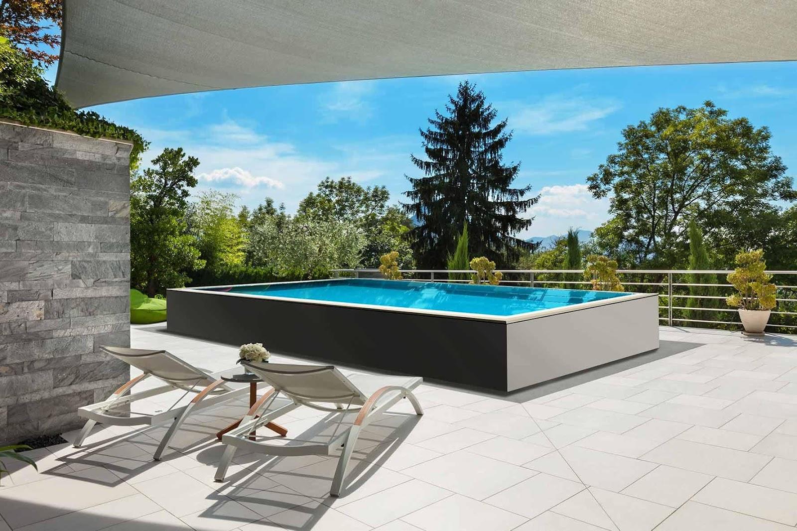 Image result for piscine fuori terra sfioro proleader