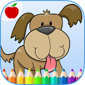 Kids Pets Coloring Book Game icon