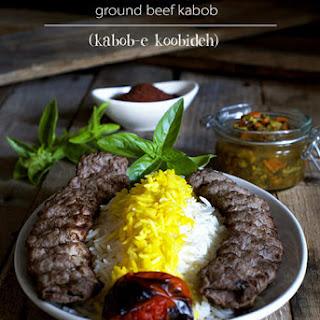 Grilled Ground Beef Kabob (Kabob-eh Koobideh)