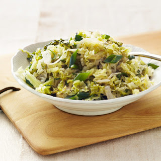 Melted Savoy Cabbage with Herbs.
