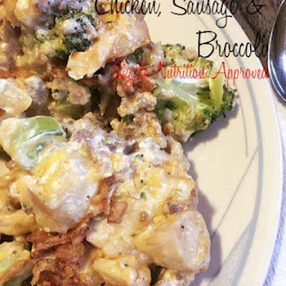Low Carb Chicken, Sausage and Broccoli Casserole.