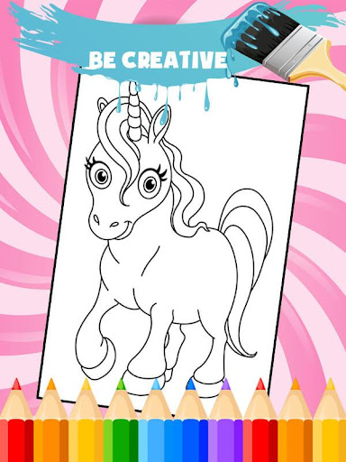 Unicorn Coloring Book: Kids Coloring Pages 3.0.1 screenshots 2