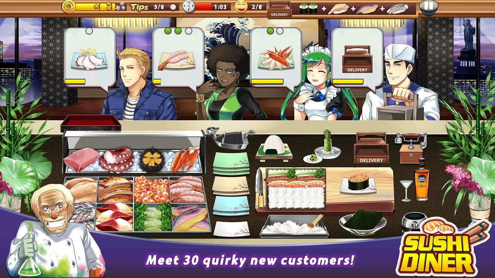 Game to cook - Sushi Diner Fun Cooking Game Screenshot