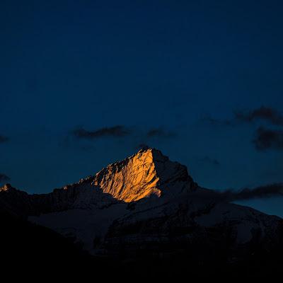 Prime luci sul Gran Pardiso di Merlograziano