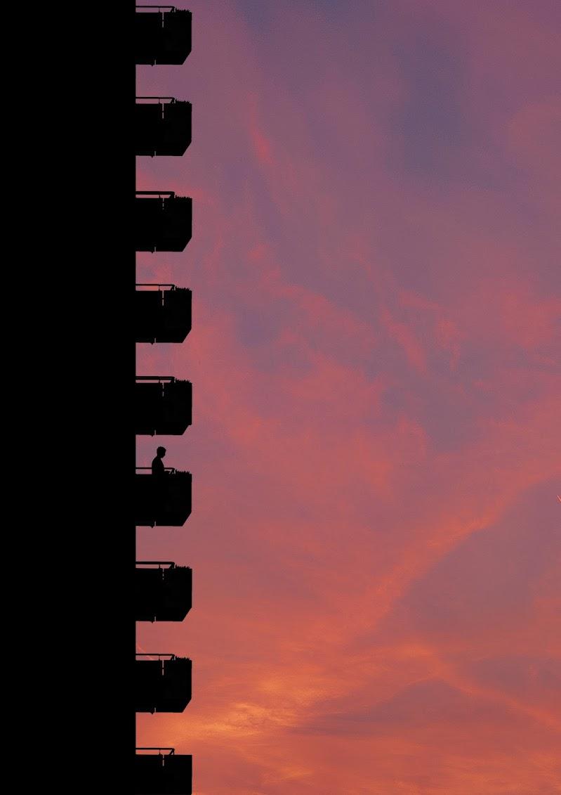 Balconi vista tramonto di clashy
