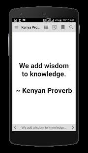 Kenya Proverbs - náhled