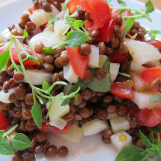 Bright Lentil Salad with Apples, Fennel, and Herbs Recipe
