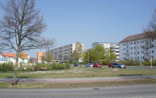 """Wohngebiet """"Neue Zeit"""": Fritz-Krumbach-, Ecke Ferdinand-von-Schill-Straße (Bild Stadt Schwedt)"""