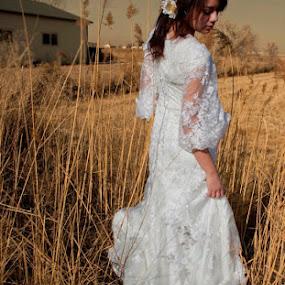 Beautiful White Dress by Valerie Aebischer - Wedding Bride ( bridal, wedding, white dress, wedding dress, bride, Wedding, Weddings, Marriage )