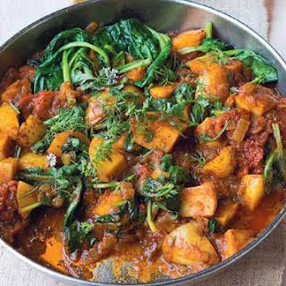 Potato & Spinach Vindaloo.