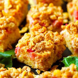 Rhubarb Crumb Squares Recipe