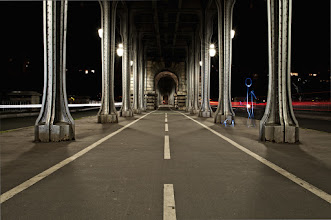 Photo: Light painting shot during a cool photowalk with +Geoffroy Lasne in Paris. Bir Hakeim bridge The light character was drawn on the side where the background was as dark as possible.  Remember that bridge ? Yes, that is the one visible in Inception ! Further information -> http://en.wikipedia.org/wiki/Pont_de_Bir-Hakeim