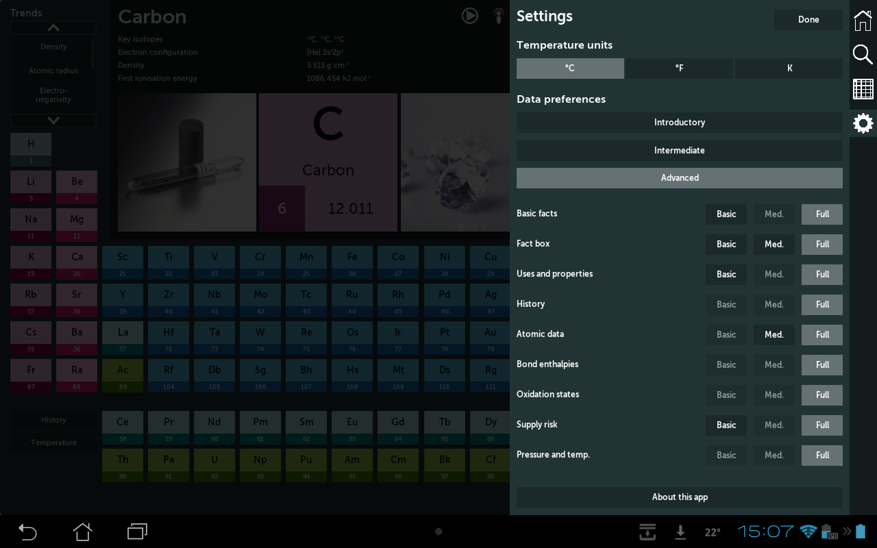 Periodic table android apps on google play periodic table screenshot urtaz Images