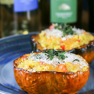 Moroccan Pilaf and Vegetable Stuffed Squash (Gluten-Free)