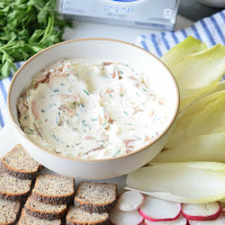 Easy Smoked Salmon Cream Cheese Spread.