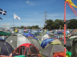 Photo: Tents were  packed in tight!