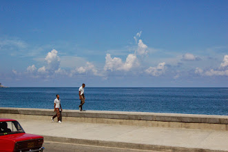 Photo: Two strangers on the Malecon, the seawall in Havana. http://www.isaacholeman.org/2007/exploring-authencity-or-choosing-not-to