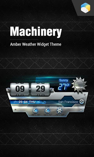 Shining Metal Weather widget