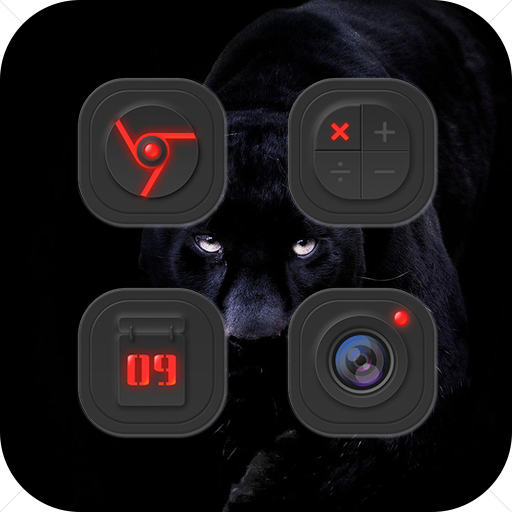 Black Space Technology Icon Pack