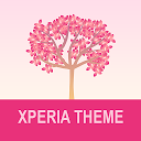 Xperia Theme - Falling Flowers Red
