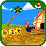 Farm Animal Escape Rooster Run Icon