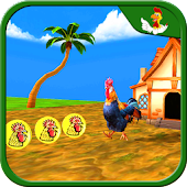 Farm Animal Escape Rooster Run