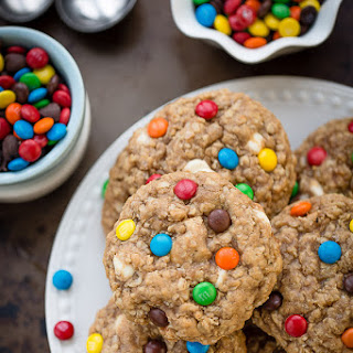 Soft and Chewy Oatmeal Monster Cookies.