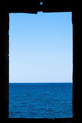 Rothko No 14 white and greens in blue di Camillo G