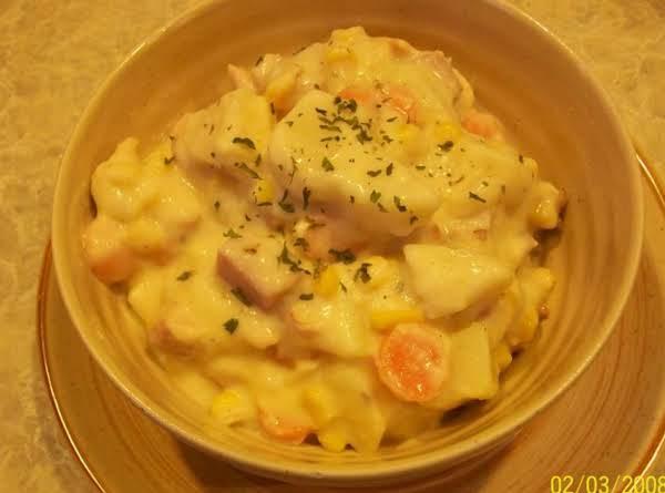 Cheesy Ham Chowder Recipe