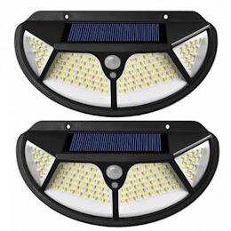 Set 2 x Lampa solara 102 LED cu senzor de miscare si lumina