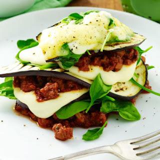 """Eggplant """"Lasagna"""" Bolognese."""