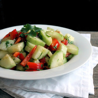 Zippy Cucumber and Red Pepper Salad