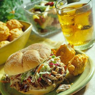 North Carolina Pulled Pork BBQ Sandwiches.