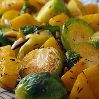 Golden Beets and Brussels Sprouts.