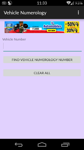 Vehicle Numerology